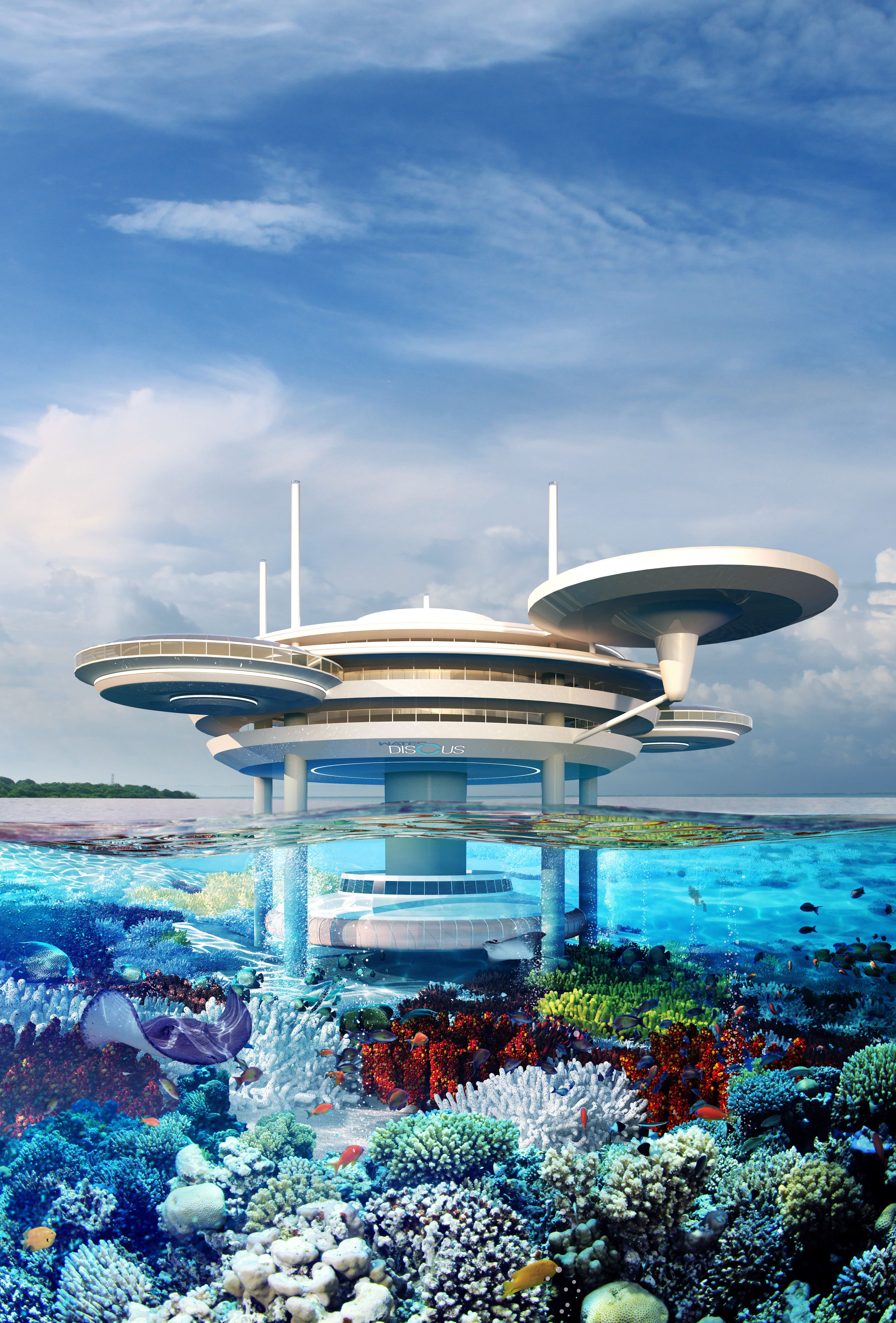 Water Discus Hotel To Be Built In The Maldives