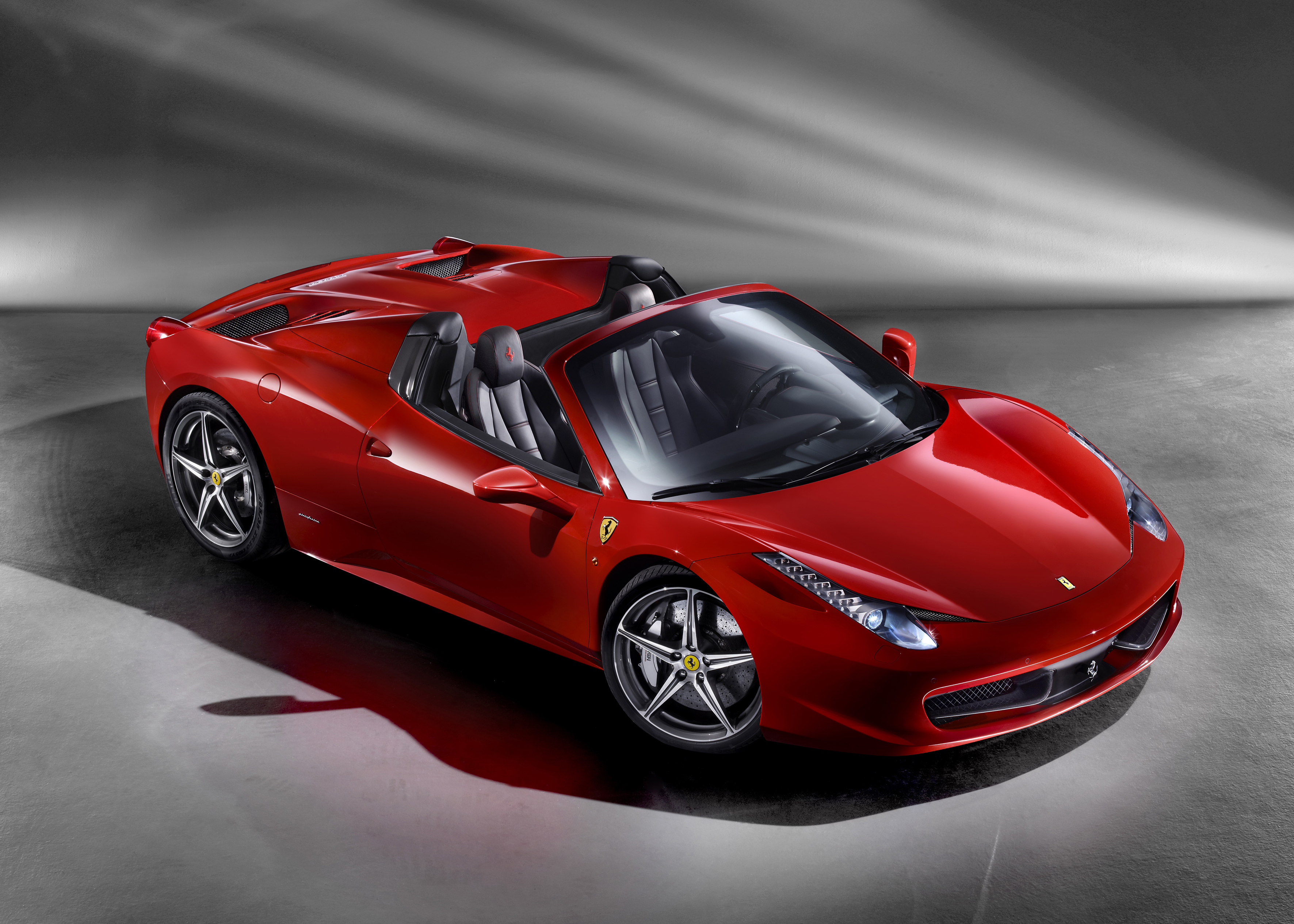Ferrari's 458 Spider - mid-rear engined berlinetta with retractable hard top
