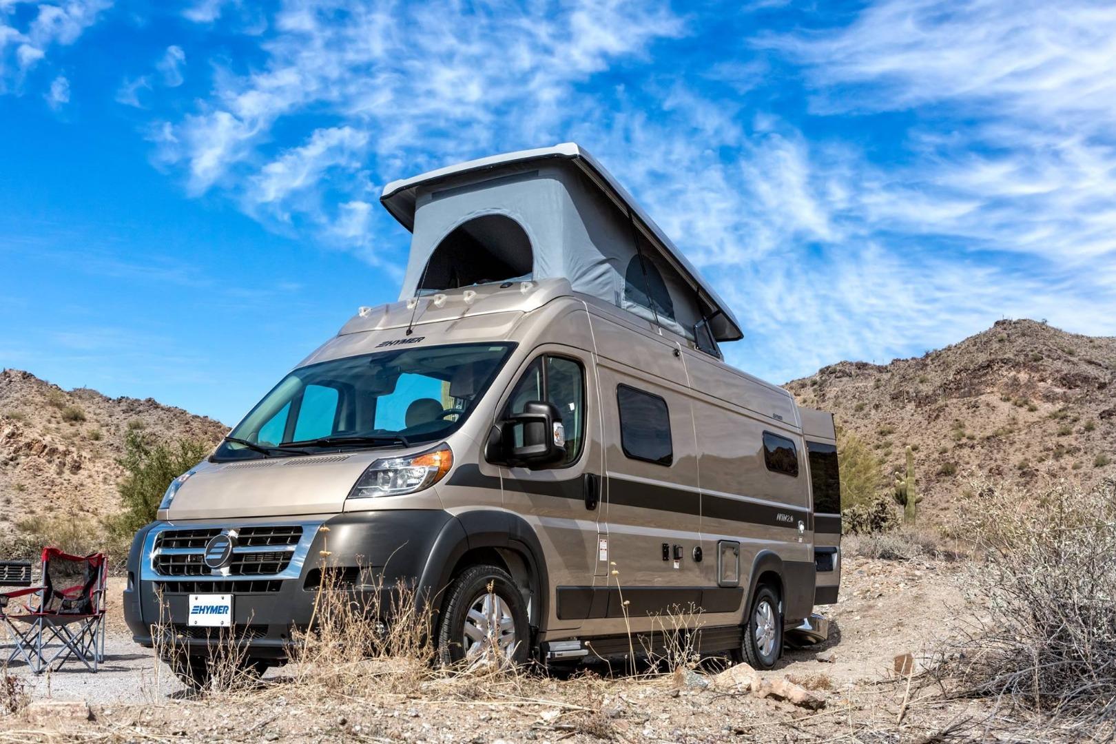 Roomy pop-top camper van sleeps the active, nomadic family of 5