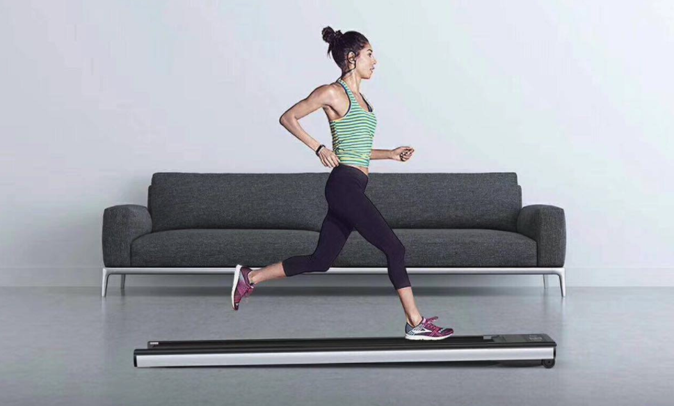 Ultra-sleek Mini Walk smart treadmill tucks away where others can't