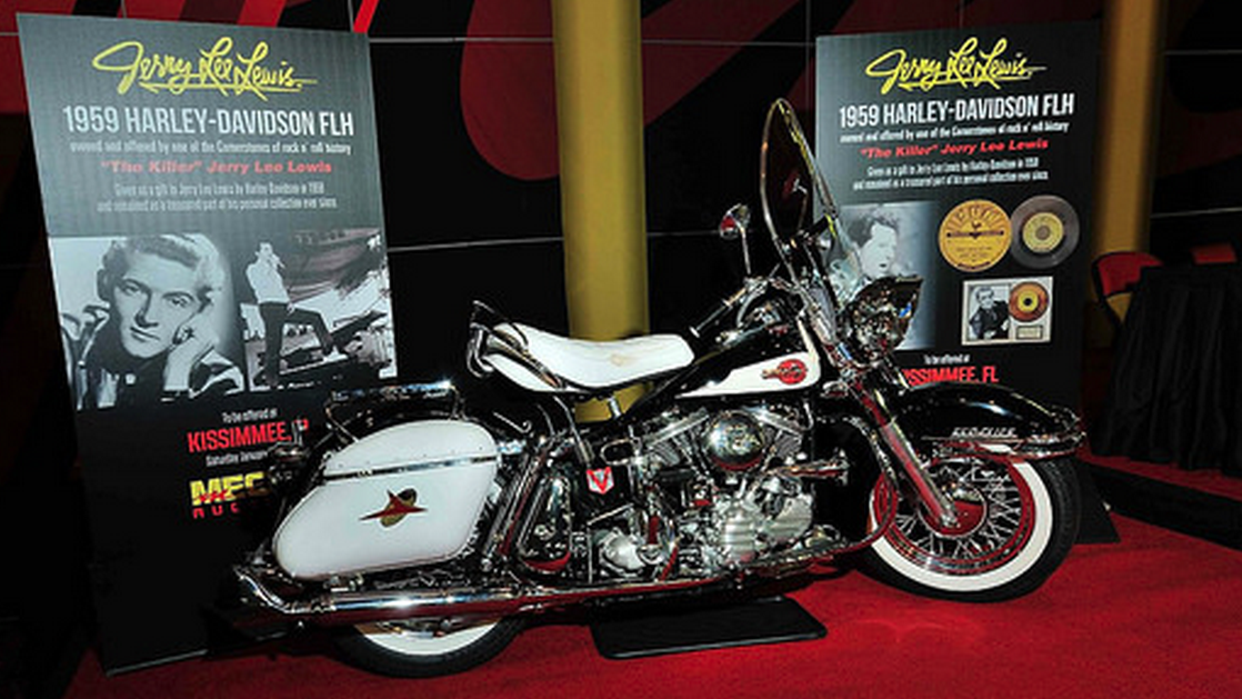Jerry Lee Lewis' 1959 FLH Harley-Davidson Panhead sells for