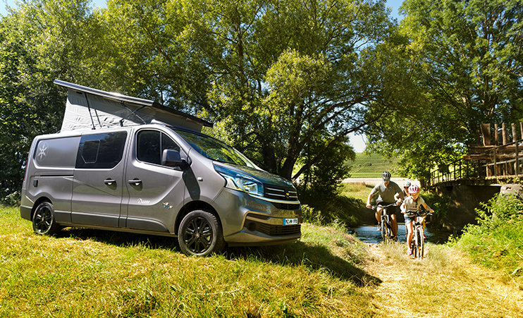 Compact, cozy $53,000 camper van carries four people and a bathroom