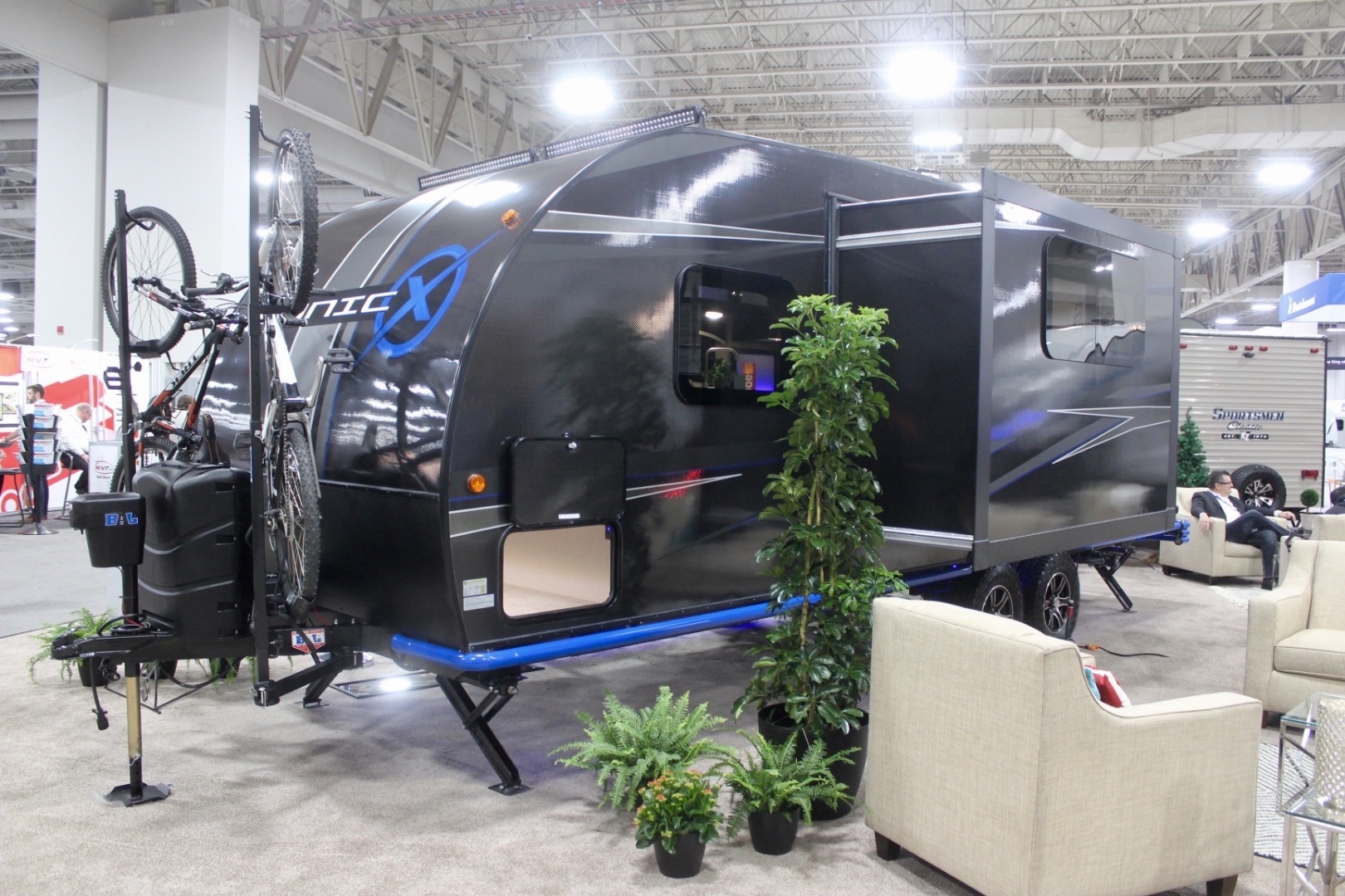"Carbon fiber camping trailer sustains itself off-grid with ""endless"" power and water"