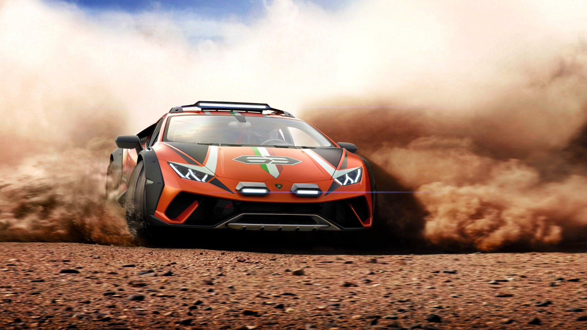 Lamborghini sends the dust flying with one,off Huracán