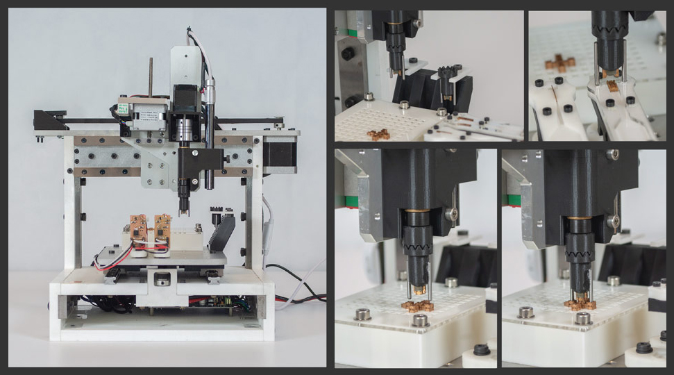 Lego-like assembly system uses just five parts to assemble complex robots