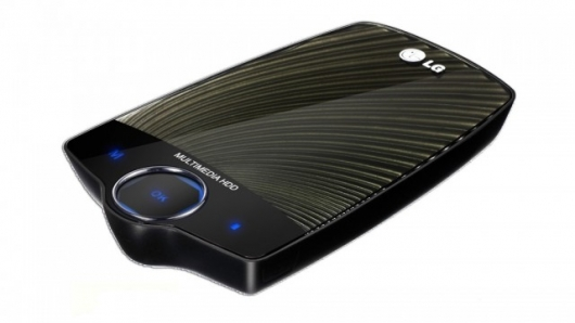 LG's XF1 external multimedia HDD looks the part