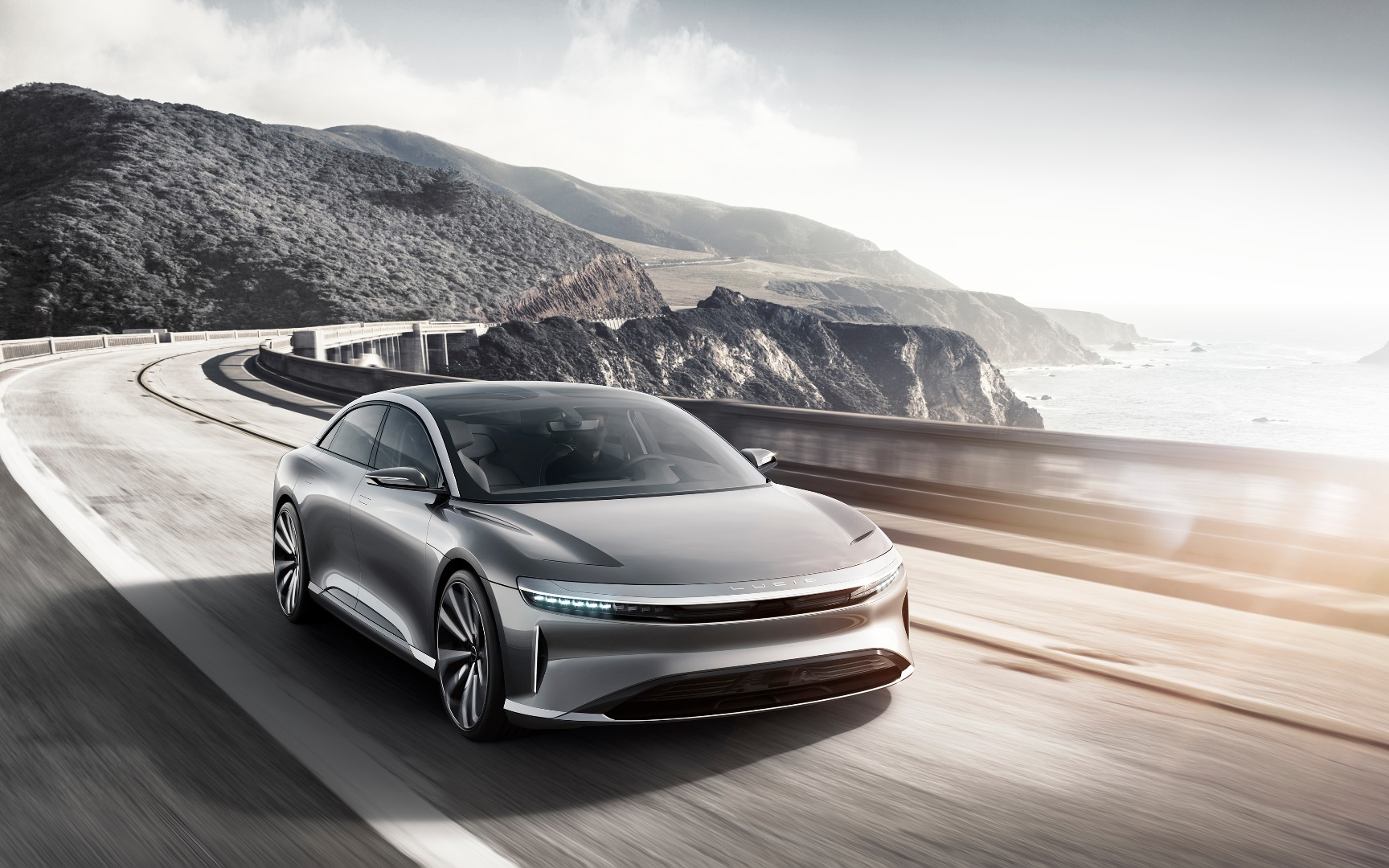 Lucid finally offers first look at upcoming electric sedan