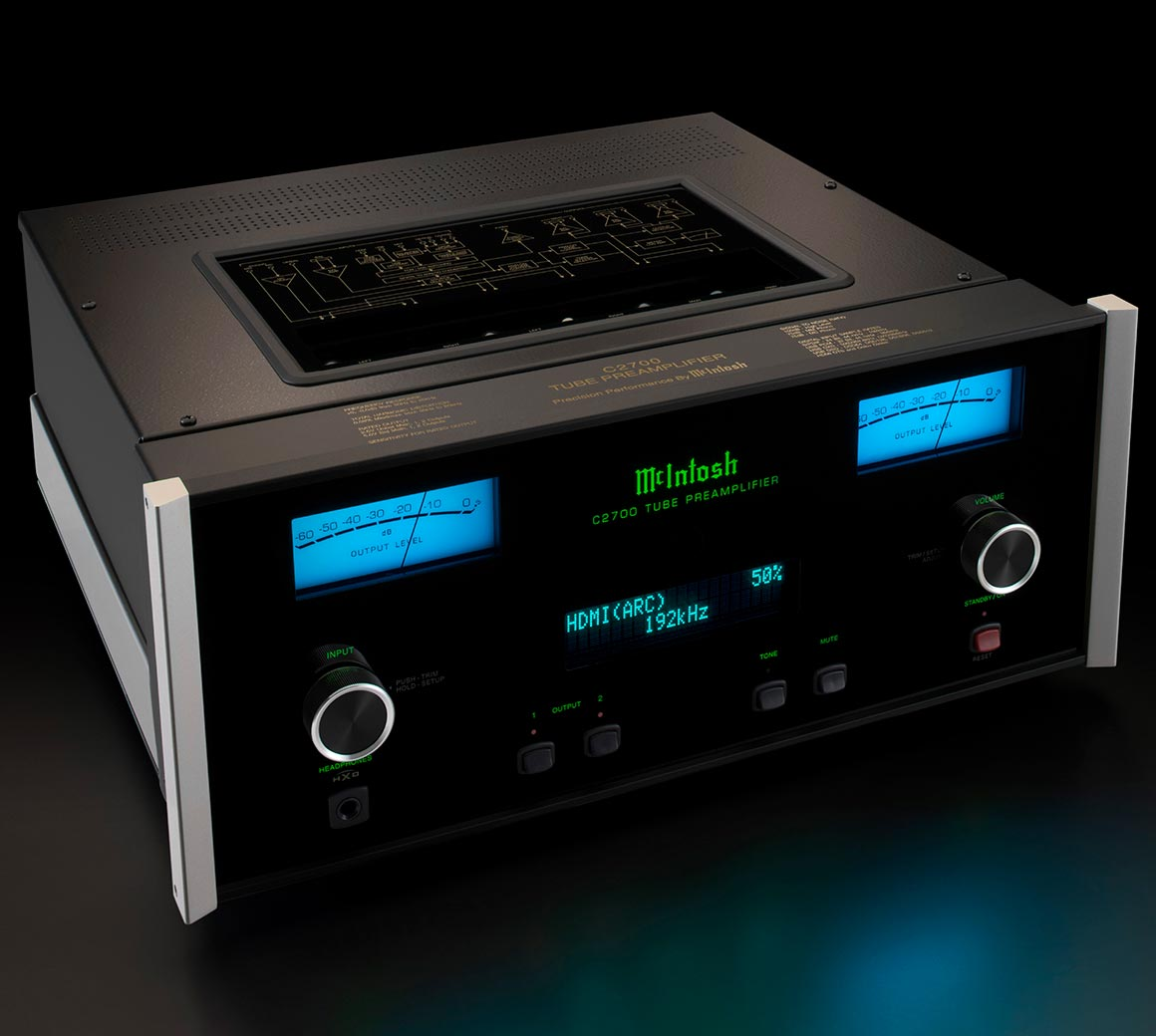McIntosh partners new Hi-Res DAC with vacuum tubes in C2700 preamp