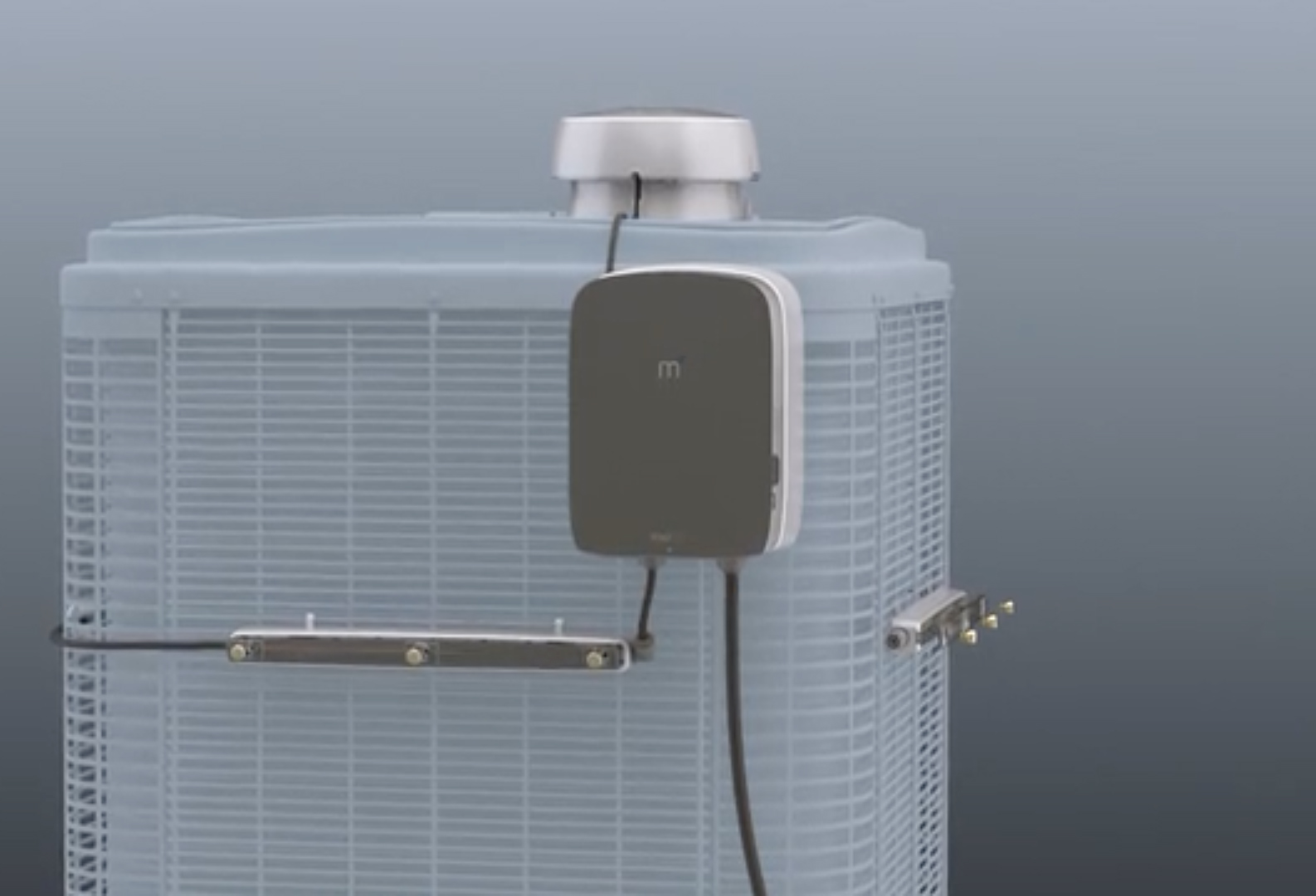 Mistbox keeps air conditioners cool to improve efficiency
