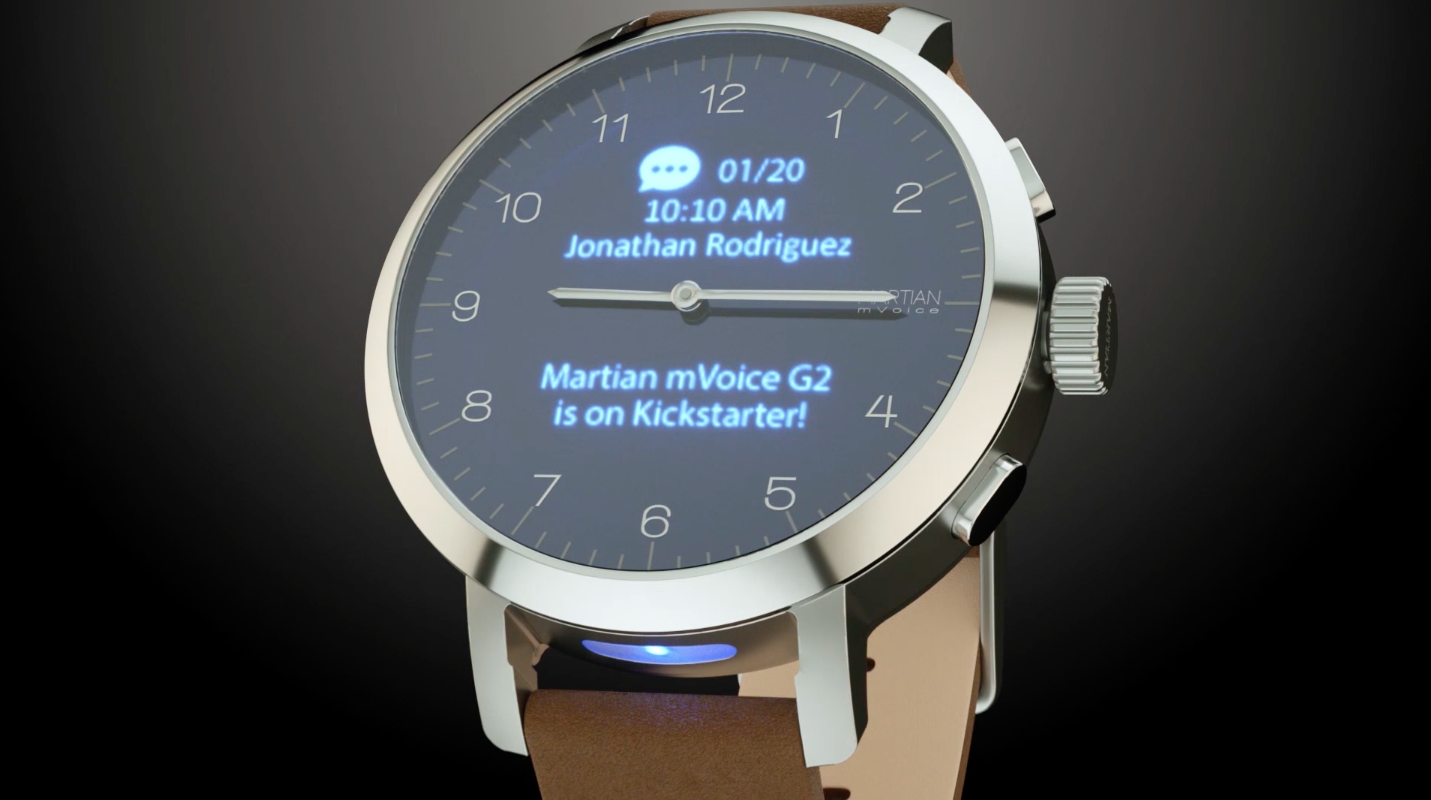 mVoice G2 smartwatch mixes old-school mechanical hands with an OLED display