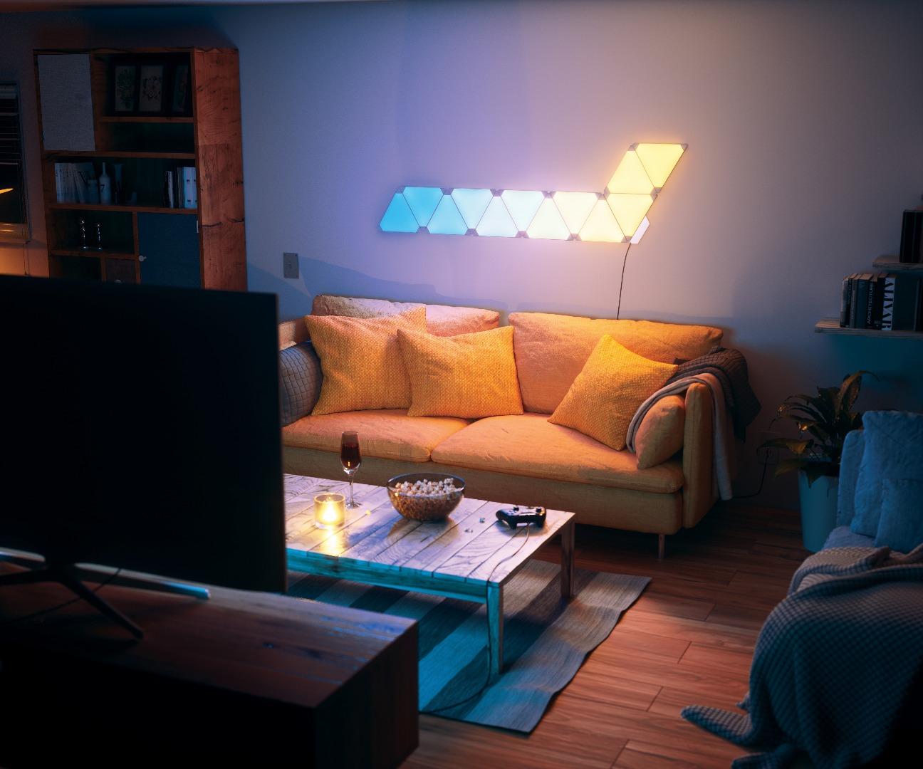 bamboo source tropical home decor with red sofa and blue.htm s newatlas com nanoleaf aurora smarter kit 45681 2016 11 01  s newatlas com nanoleaf aurora