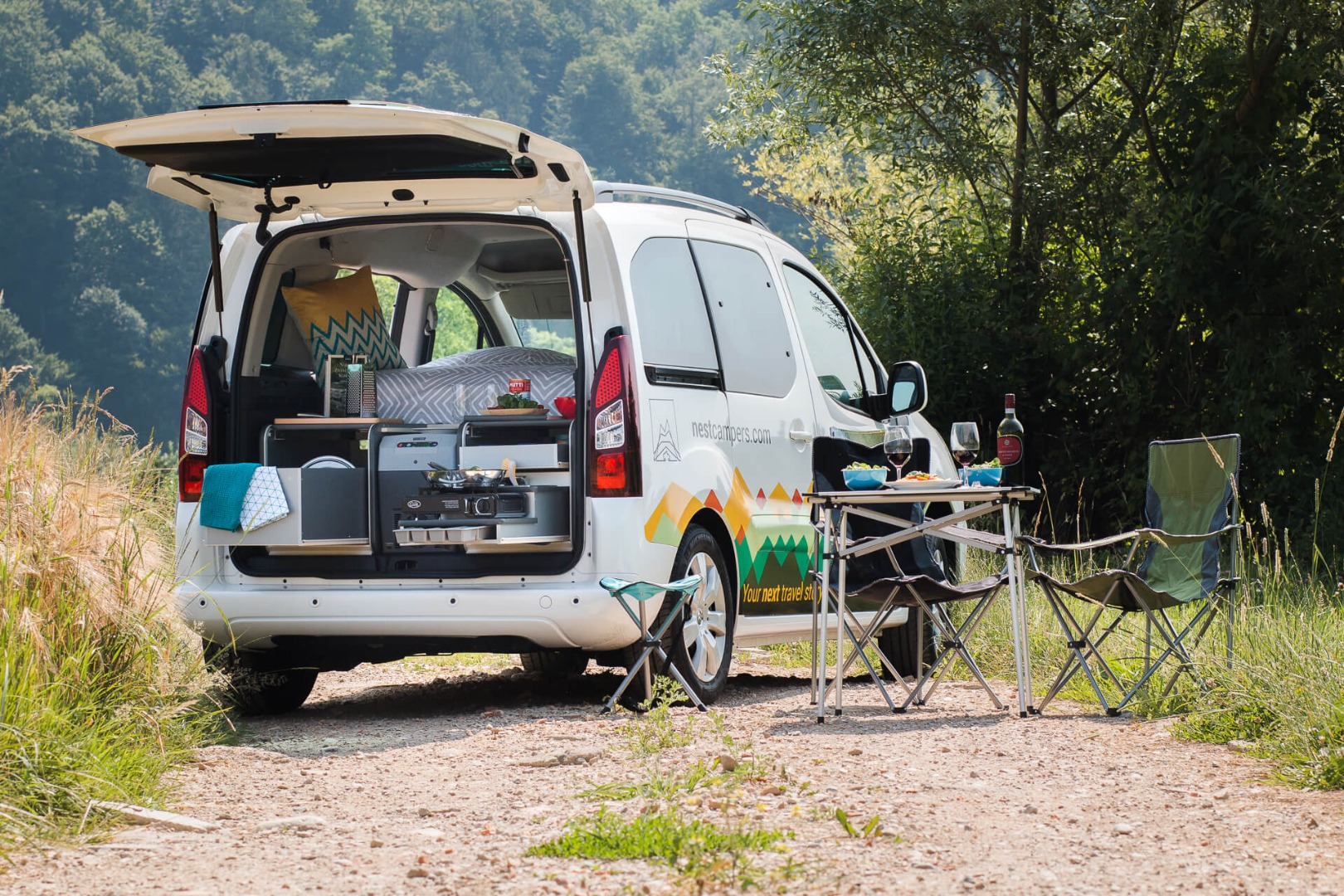 Nest mini-campervan keeps your footprint small and path wide open