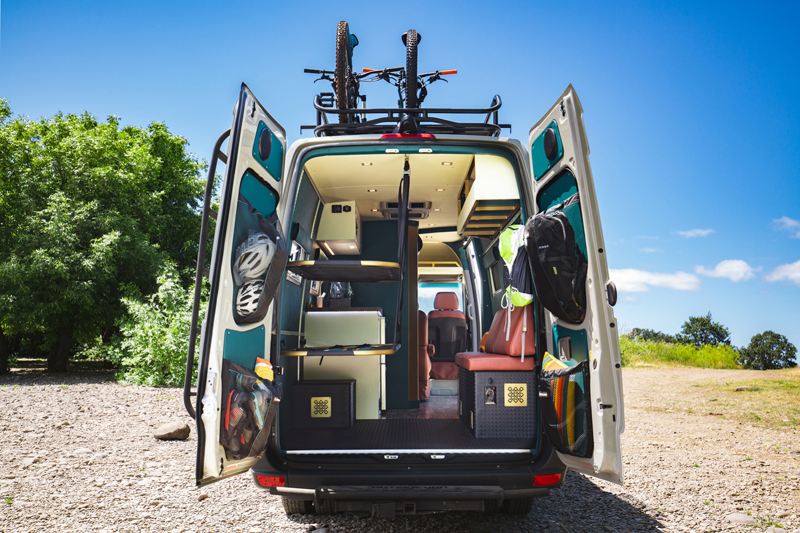Next Gen off-grid camper van drops weight with ultralight cots and components