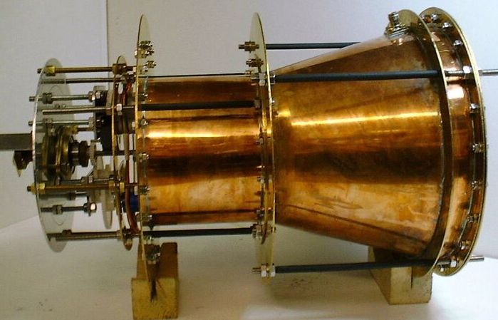 According to one peer-reviewed paper, the EmDrive thruster was able to produce 720 mN of thrust from an electricity input of 2.5 kW