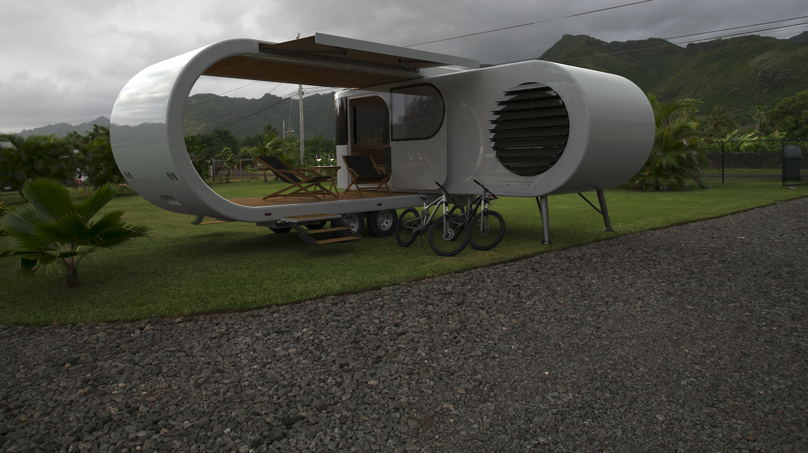 "Romotow's fold-out ""Swiss army campervan"" nears completion"