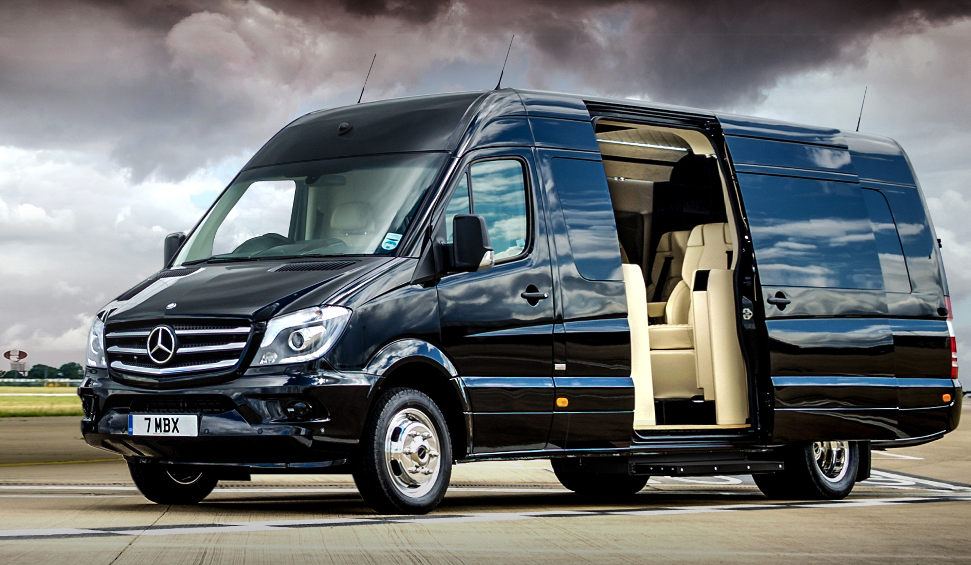 Senzati turns the Mercedes Sprinter into a four-wheeled luxury jet