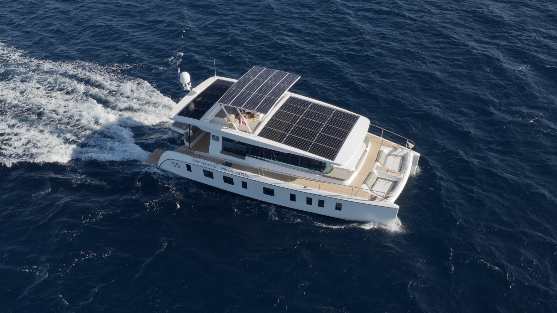 Silent 55 yacht promises up to 100 miles of solar-powered cruising per day
