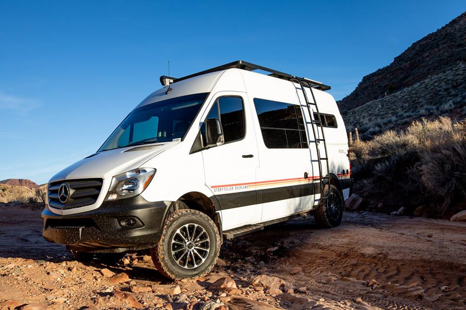 Swiss Army-like 4x4 camper vans invite you to author your own tales of adventure and intrigue