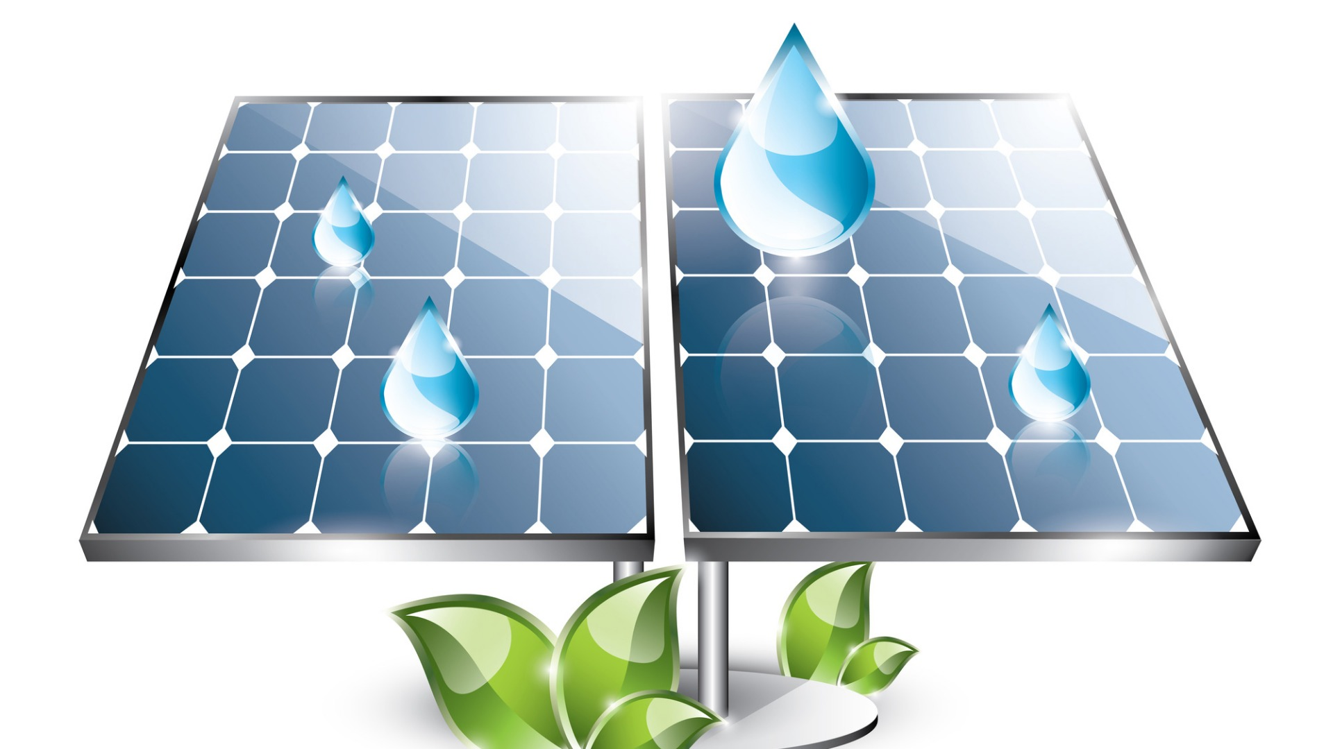 Hybrid solar cell captures energy from the sun and raindrops