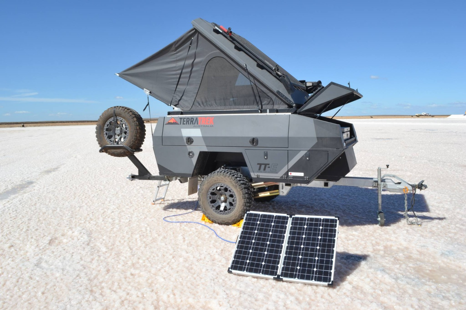 Terra Trek's ultra-stout trailer eats up the outback and pops to life at camp