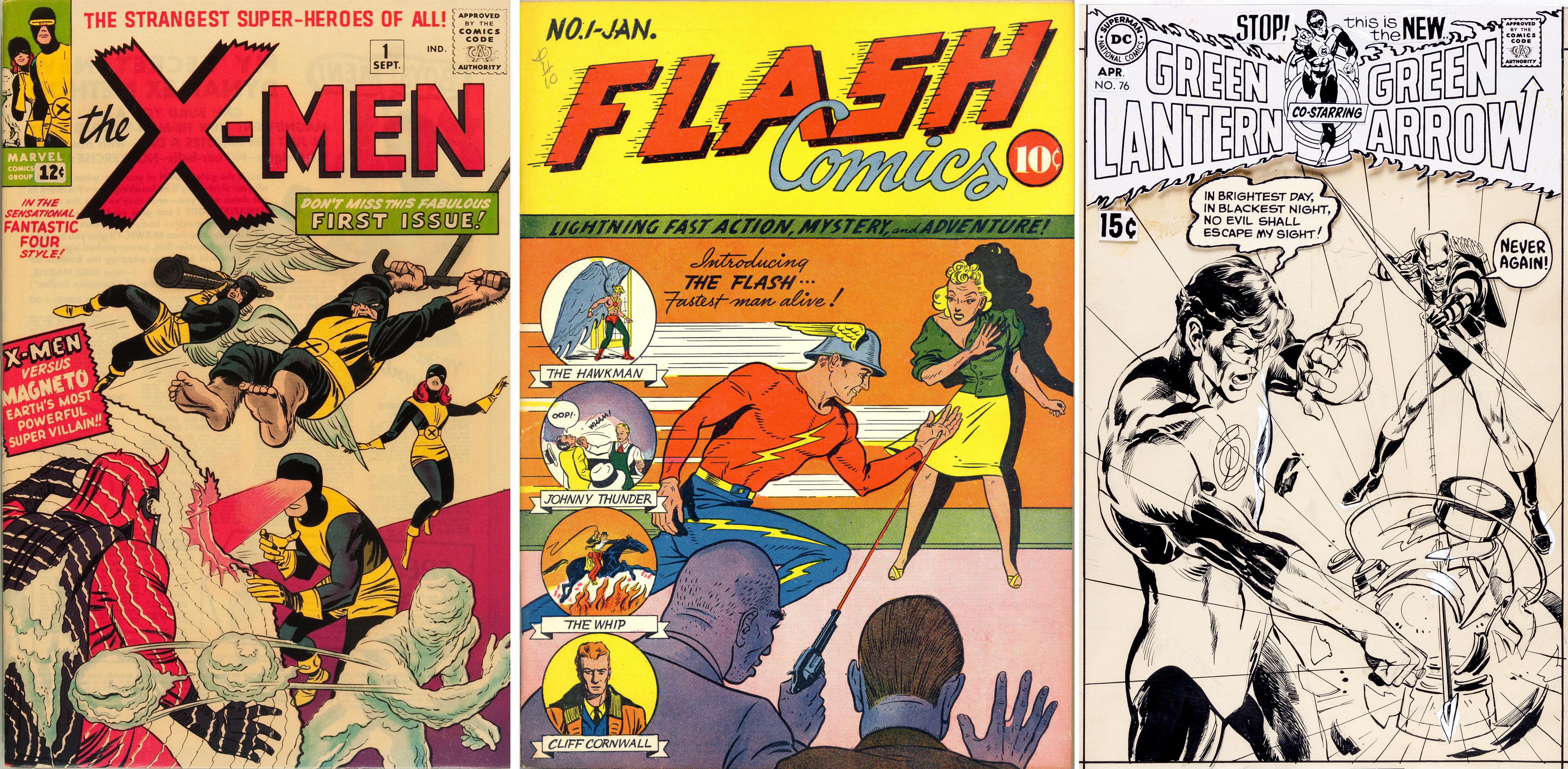 1959 The Flash Comic  Refrigerator Tool Box Magnet  Man Cave
