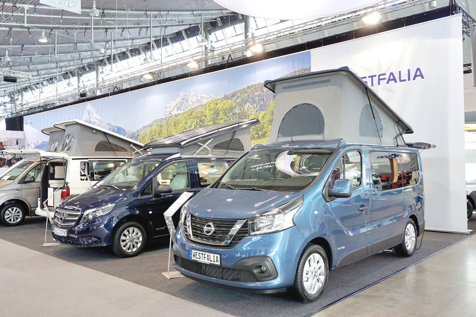 Versatile Nissan Michelangelo camper van plugs and plays