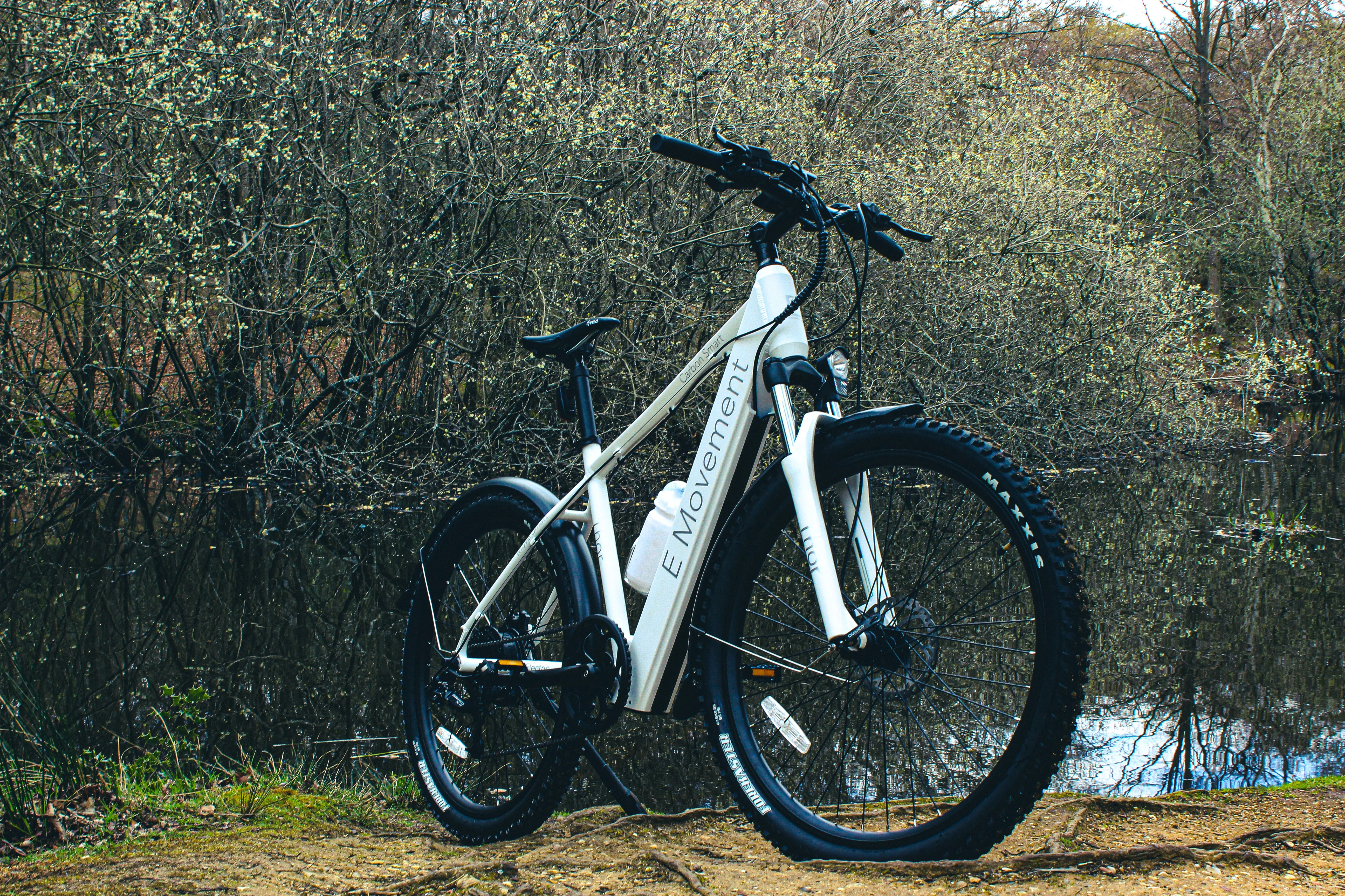 The 10.4-Ah battery hidden away in the downtube is reckoned good for up to 80 miles of pedal assist riding per charge
