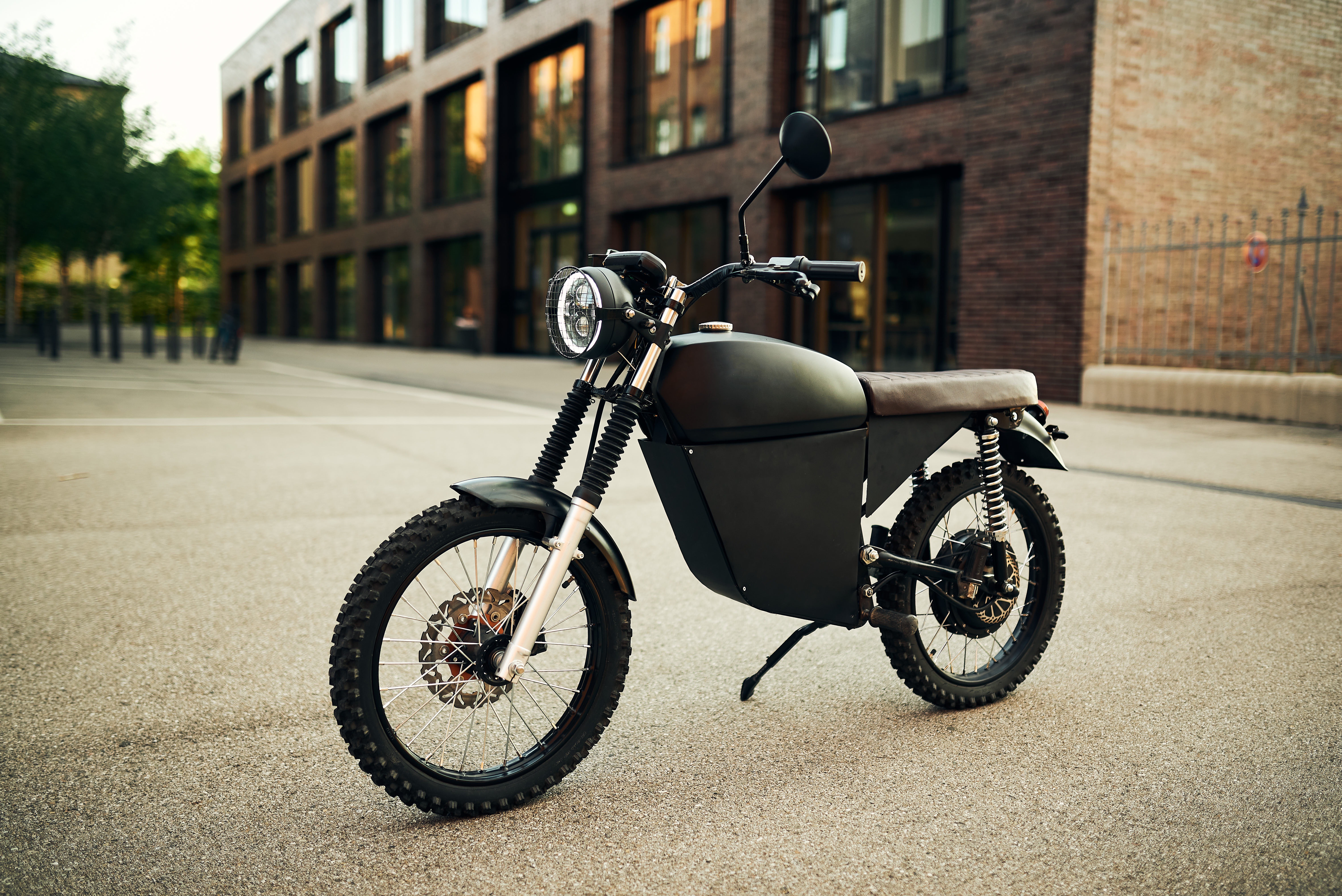 The BlackTea Moped's battery should take around five hours to charge via a standard 220-V wall outlet