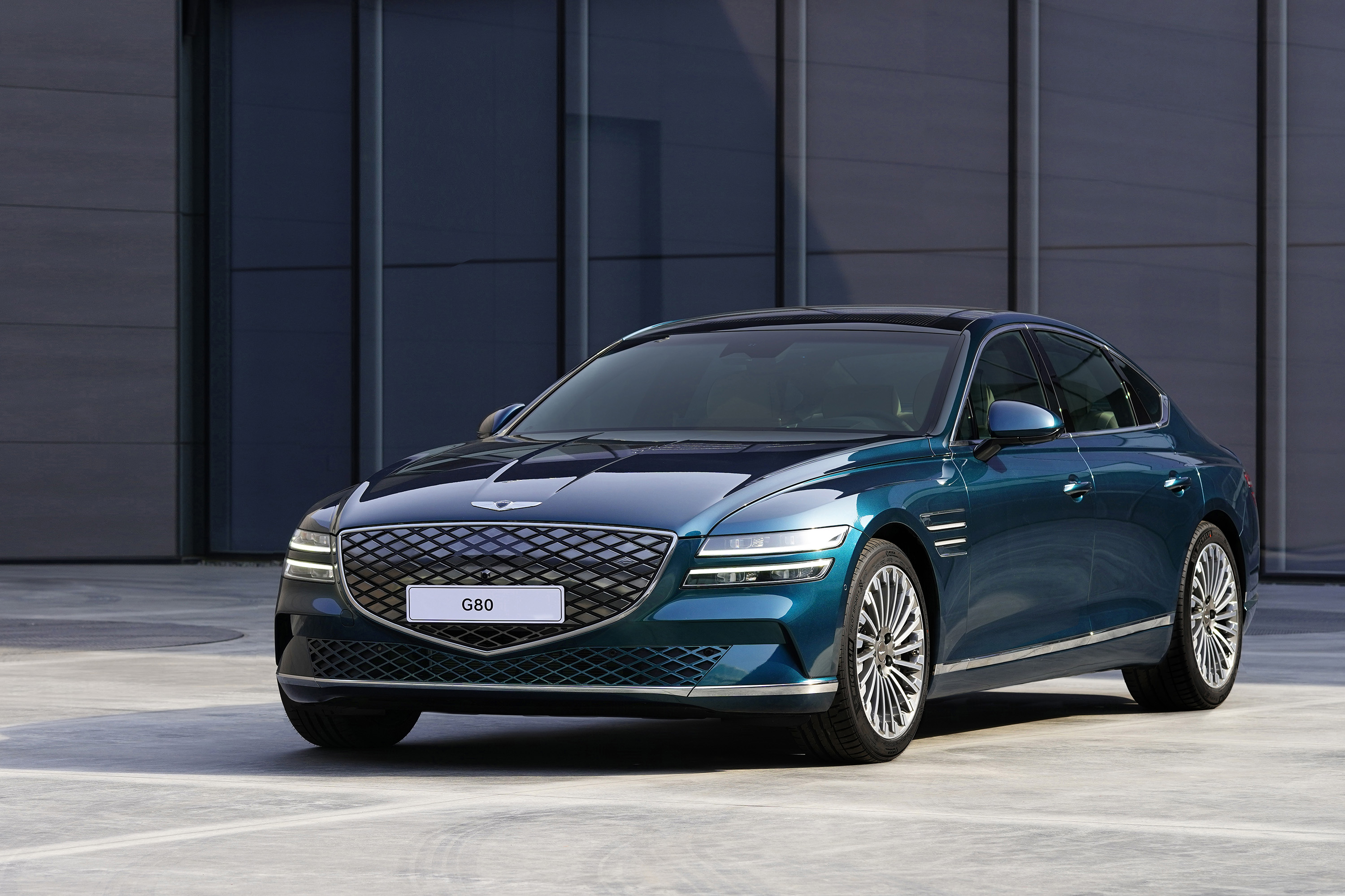 Genesis has taken to Auto Shanghai to reveal an electric version of its G80 luxury sedan