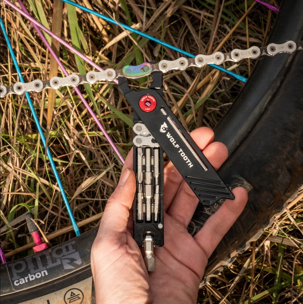 Wolf Tooth's new 8-Bit Pack Pliers can be used to both remove and install the master link of a bike chain