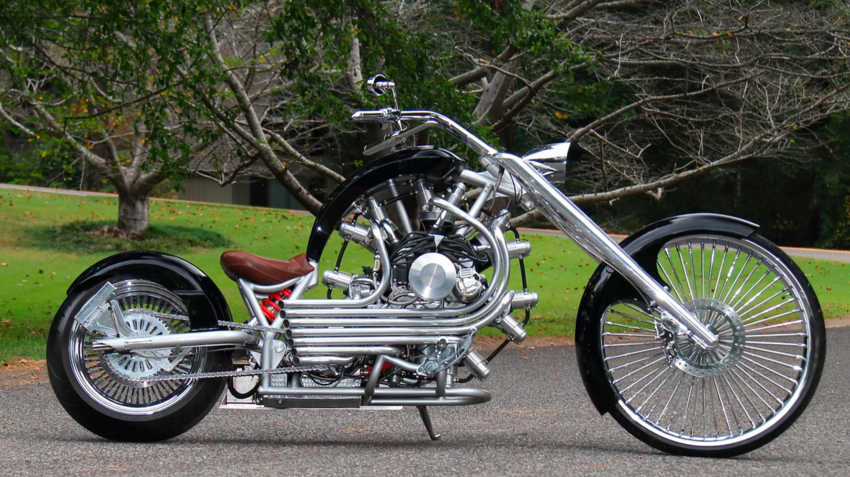 Part airplane, all functional art, four-only: the JRL LUCKY7. This bike sold for roughly one third of replacement cost.