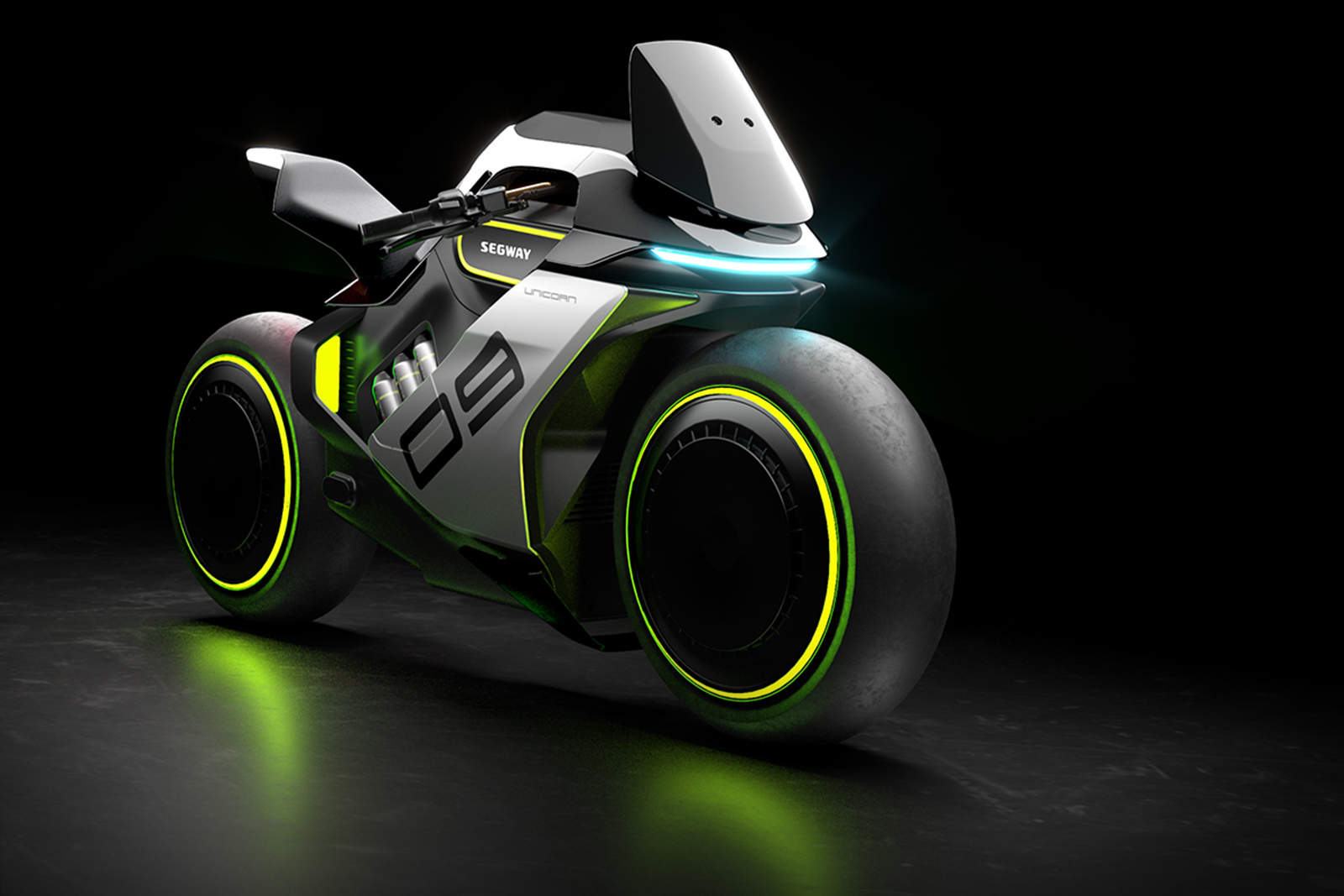 The outrageous Segway Apex H2 - a hydrogen-hybrid sports motorcycle