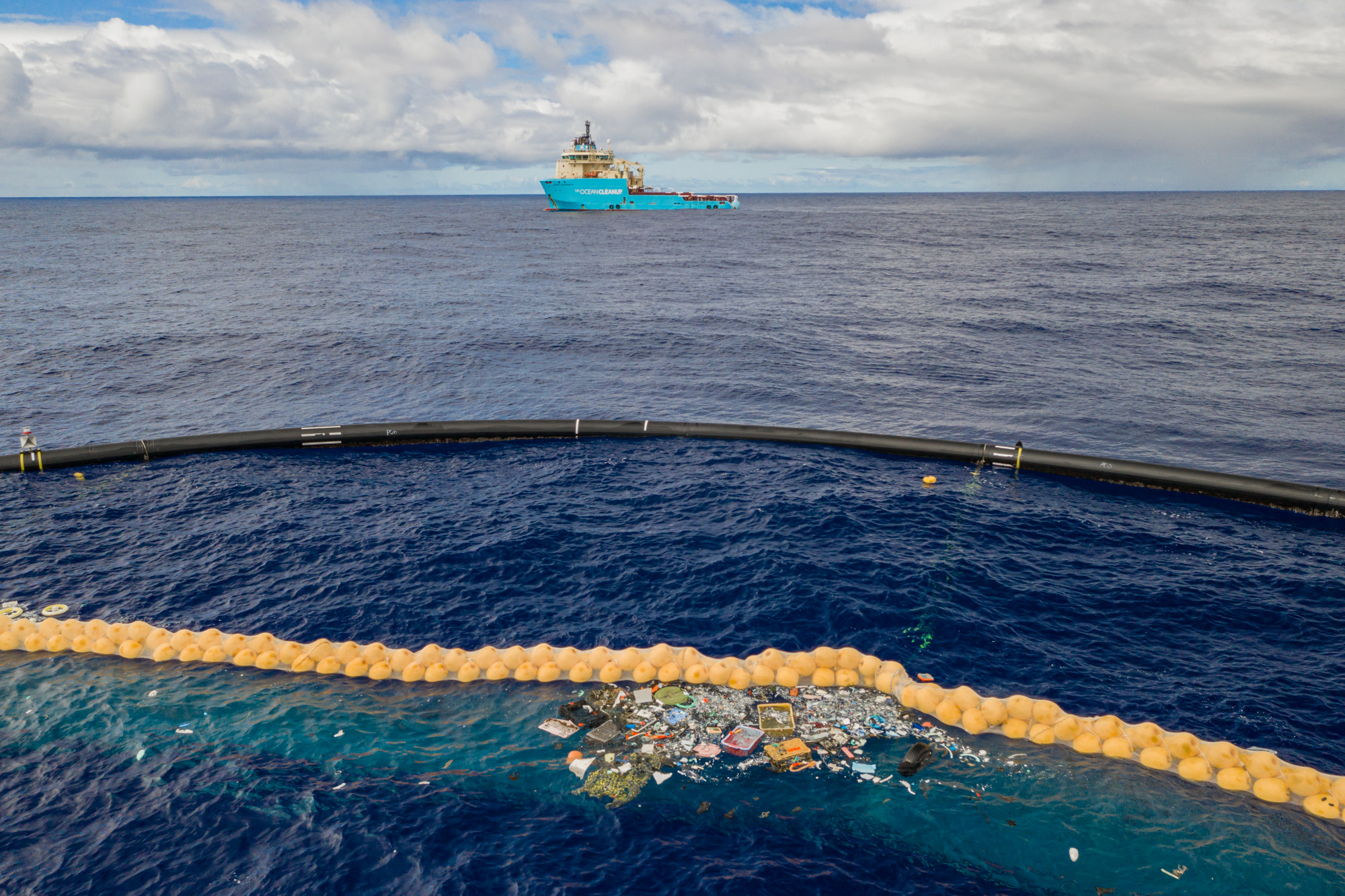 Ocean Cleanup starts harvesting plastic from the Great Pacific Garbage Patch