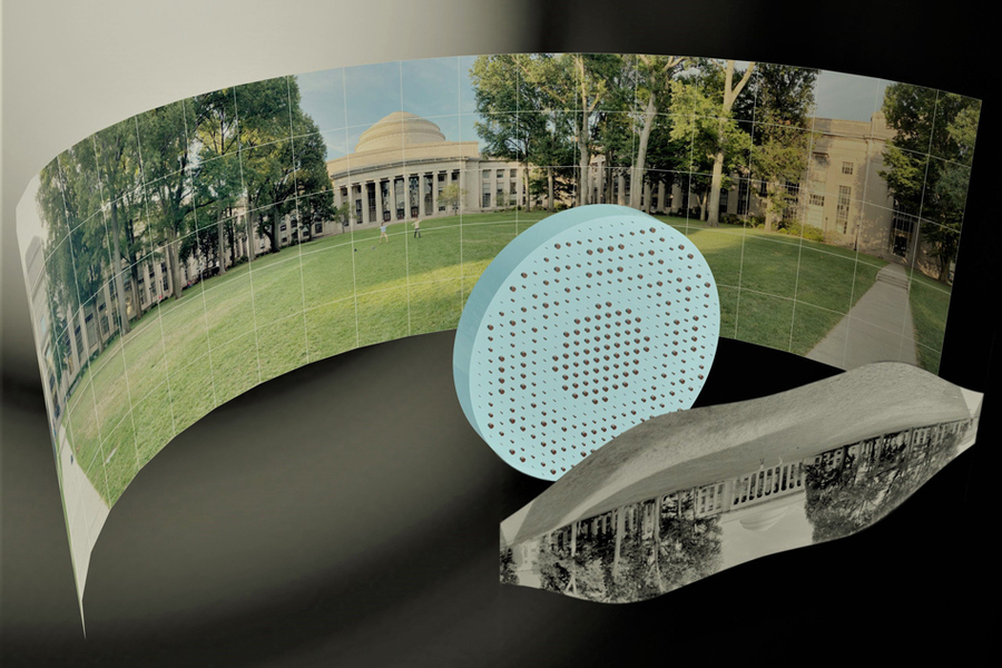 The metalens has a 180-degree field of view