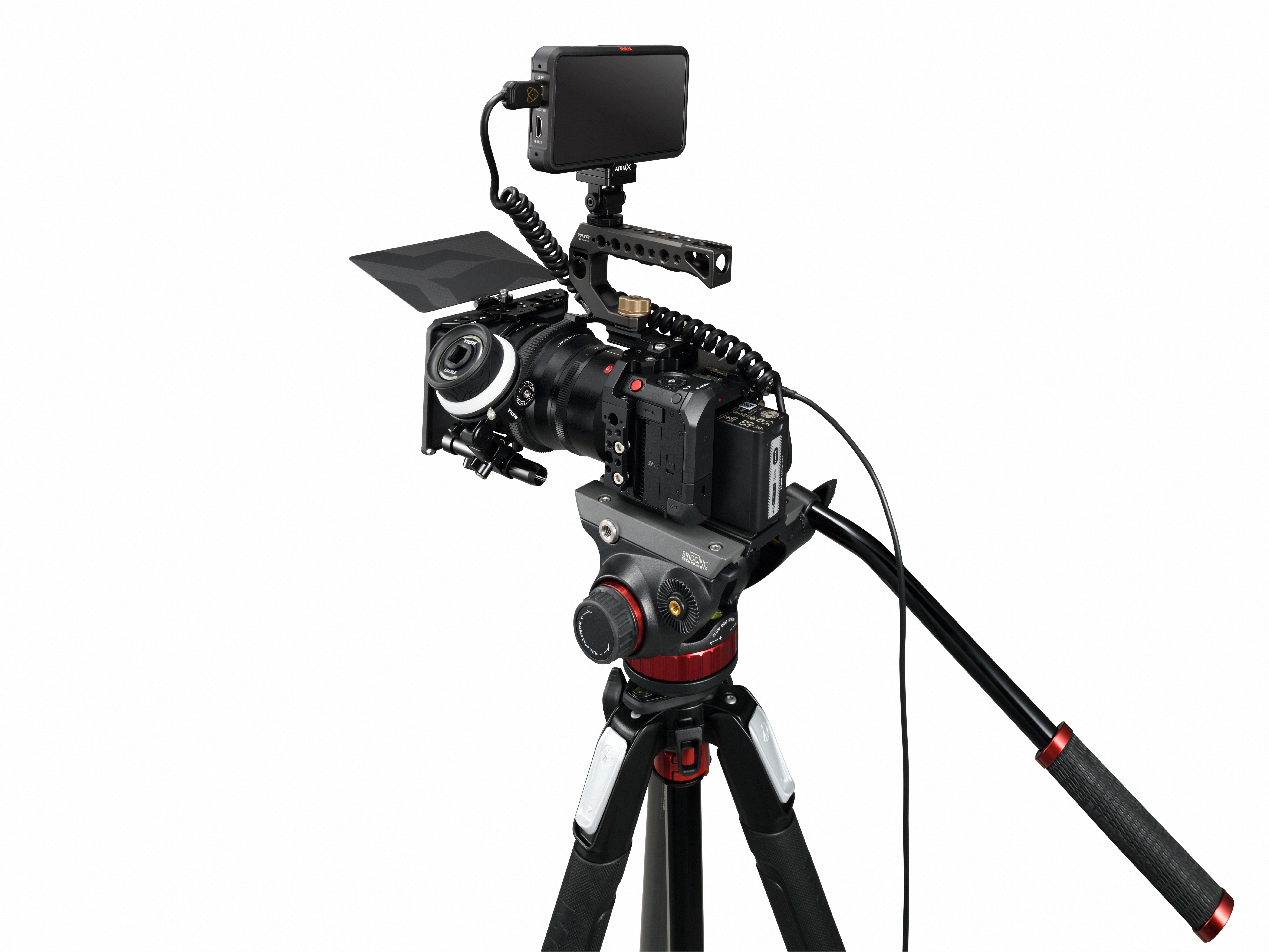 The Lumix DC-BS1H camera has numerous mounting points and connection for attaching the hardware you need for a video shoot