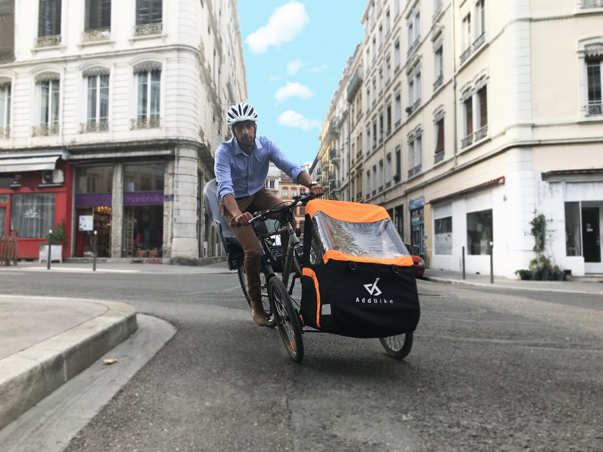 AddBike replaces the front wheel with a cargo cart