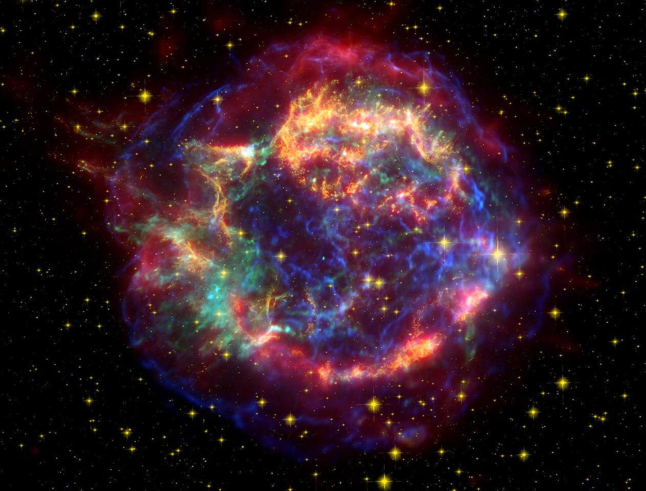 The radioactive iron found on the moon is almost exclusively made from the formations of supernovae like this one, Cassiopeia A