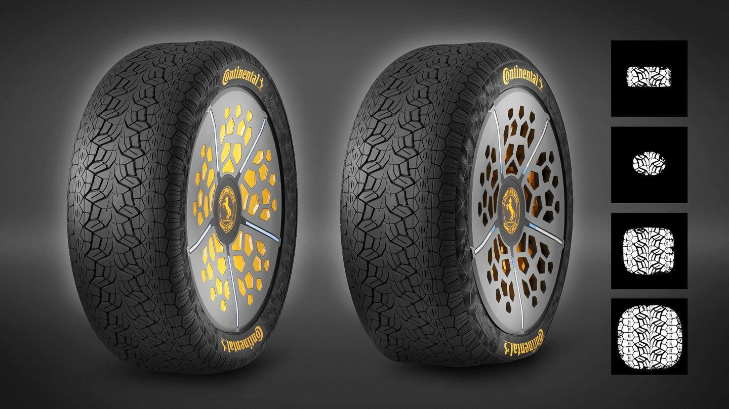 Continental has developed two new concepts that have been implemented in a single concept tire on display at IAA2017