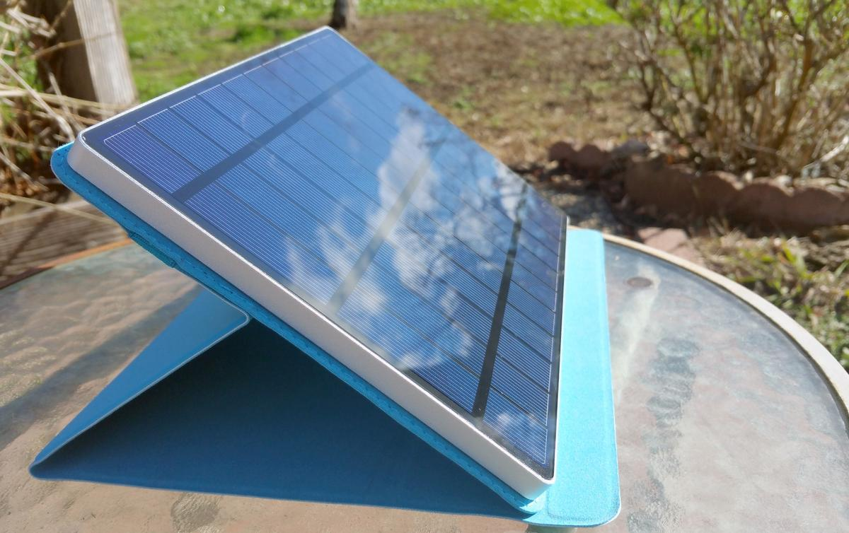 The Solartab solar charger strikes a great balance for portable size and appreciable performance