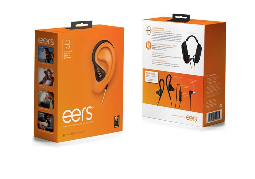 Sonomax's eers earphones utilize the SonoFit fitting system, which pumps liquid silicone into the earpieces