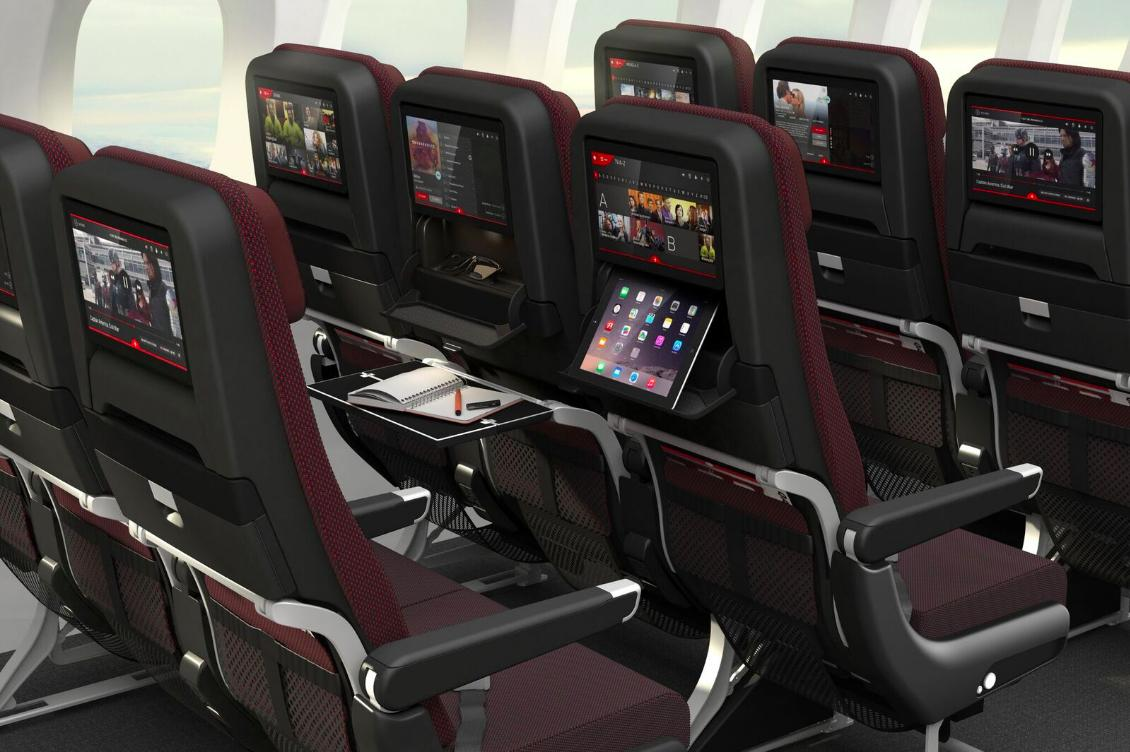 Qantas says has tried to provide more space and leg-room for economy passengers on the Dreamliner