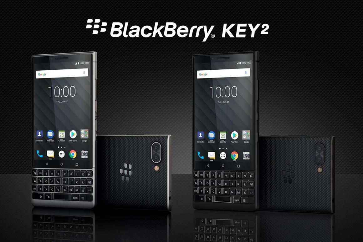 The BlackBerry Key2 smartphone packs extra security and a