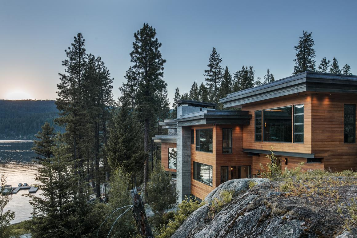 The Cliff House is perched on a cliff overlooking Payette Lake in Idaho's southwest