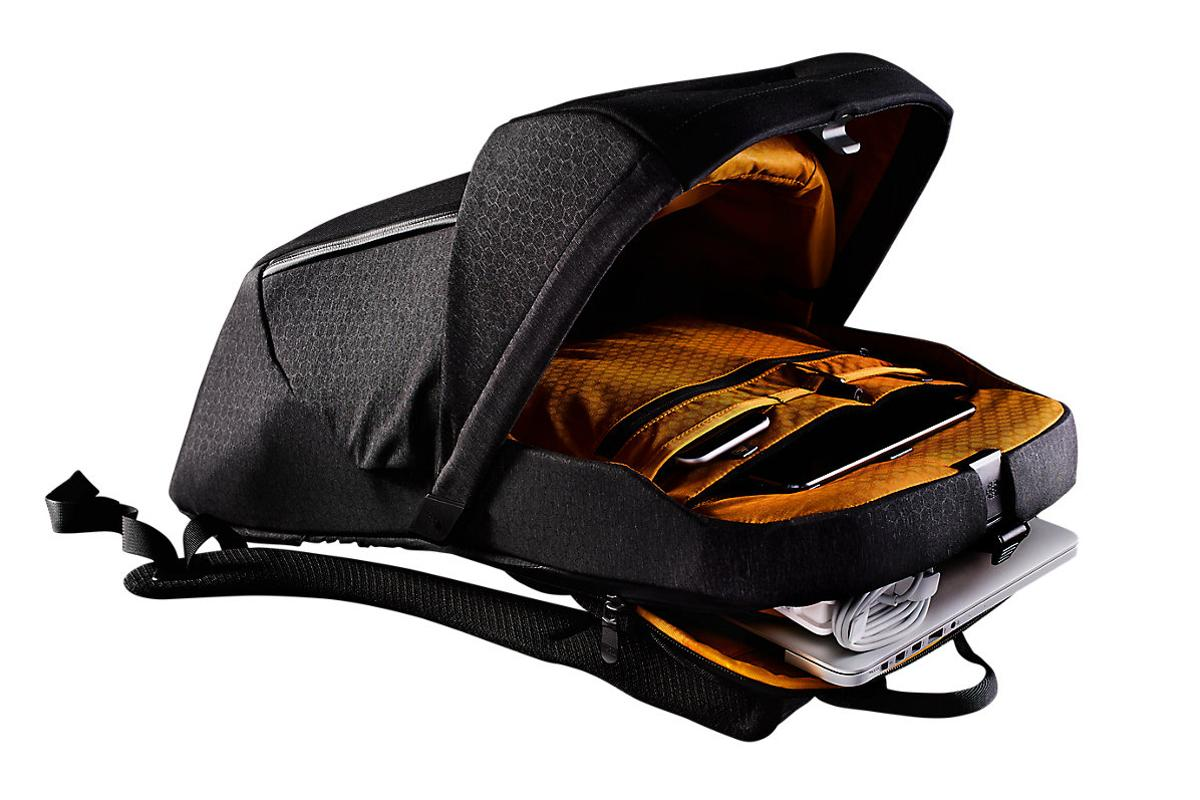 The Access Pack's main compartment pops open through a quick release latch