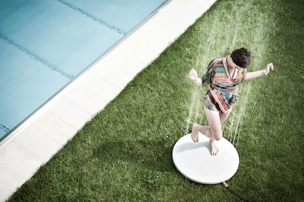 The Viteo Shower offers a portable solution for those who want an outdoor shower with a difference