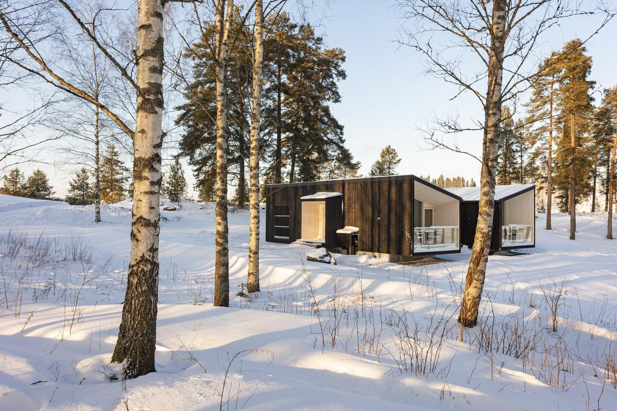 Helsinki-based architectural firm Studio Puisto, has recently completed a modular eco-hotel concept, designed to capture the attention of budding hoteliers