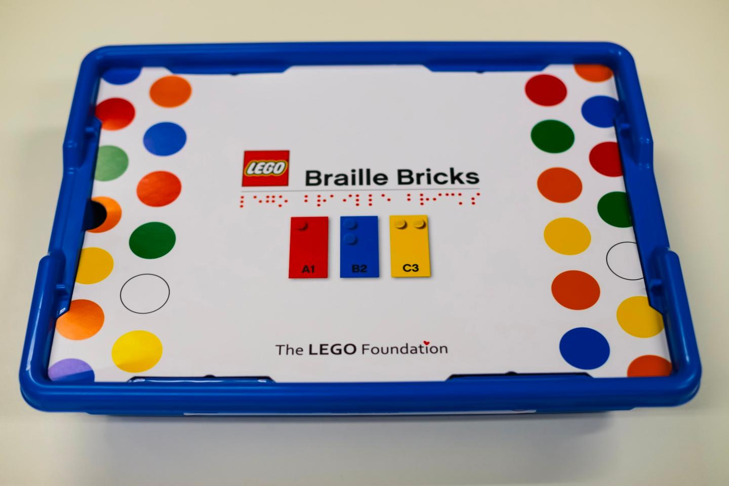 The Lego Braille Bricks kit willbe distributed free of charge to select institutions in 2020