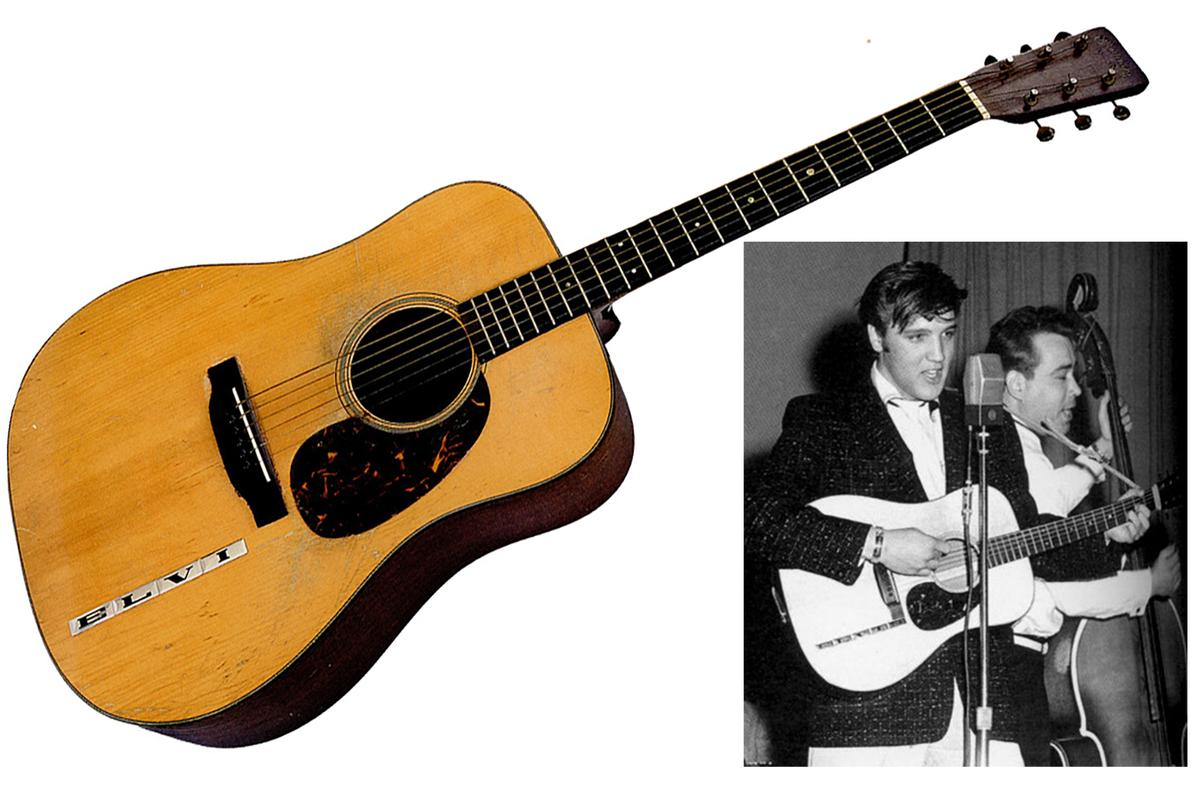 Only ten guitars have ever sold at auction for more than US$1.0 million - Elvis Presley's 1942 Martin D-18 guitar is one of them