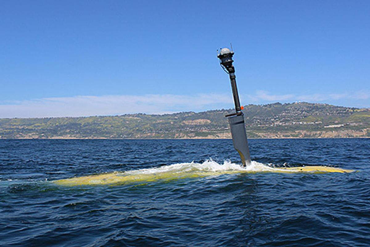 Echo Voyager in open water off the coasts of Southern California