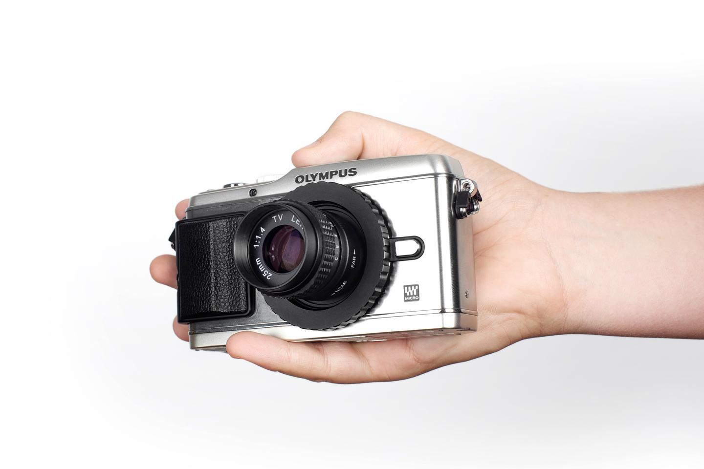 Photojojo has just added SLR Magic's 35mm f1.4 manual focus toy lens for Olympus and Panasonic Micro Four Thirds digital cameras to its range (All Photos: Photojojo)